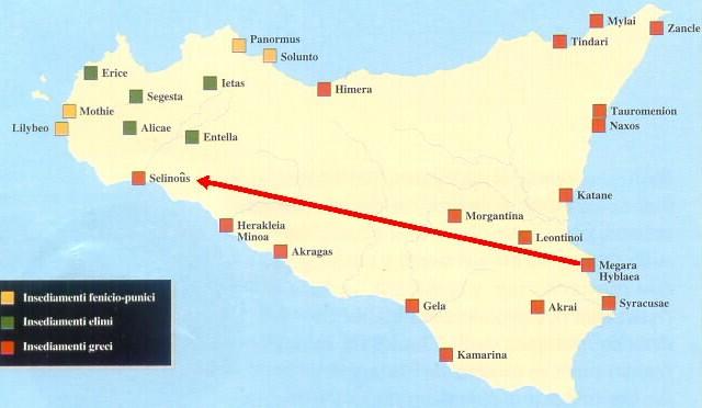 Cartina Sicilia Selinunte.Tavola Cronologica