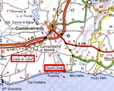 Cartina Sicilia Selinunte.Dove Si Trova
