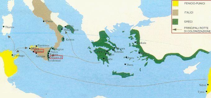 Cartina Della Grecia Antica In Italiano.La Colonizzazione Greca