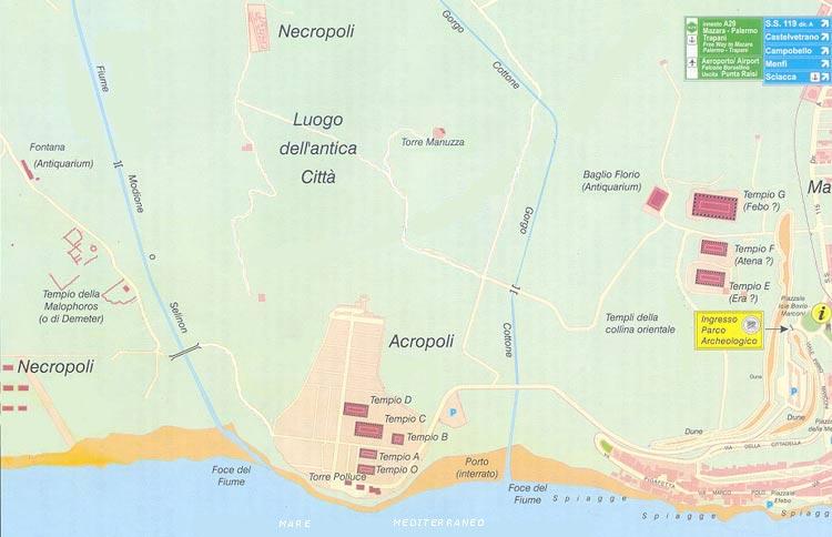 Cartina Sicilia Selinunte.Selinunte On Line